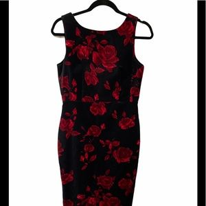Talbots Dress Red and Black Size 8P